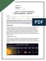 Guía del sistema solar para 3° básico