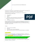 TÉCNICAS DE APRENDIZAJE AUTÓNOMO