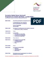 Formation HSS - Module 2 - Le Label- Programme 2010