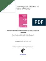 EDUCACION, DERECHOS SOCIALES Y EQUIDAD - TOMO III