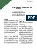 Análisis de Uso de La Gamificación en La Enseñanza de La Ibnformatica