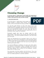Choosing Change