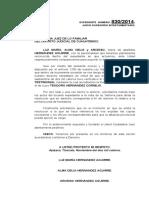 7.- Escrito solicitando se resuelva junta de herederos sucesión Teodoro Hernández Cornejo.