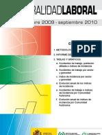 Siniestralidad Laboral ocubre 2009-septiembre 2010