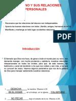4. EL DIACONO Y SUS RELACIONES PERSONALES