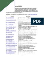 Lista de funciones de EXCEL