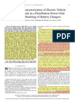 Behavioral Characterization of Electric Vehicle Charging Loads in a Distribution Power Grid Through Modeling of Battery Chargers