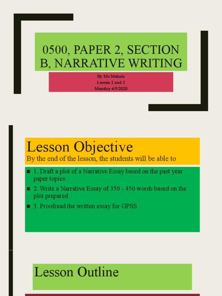 Narrative Essay  Essays  Narration