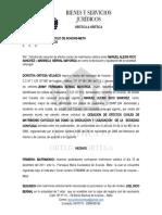 SOLICITUD DE DIVORCIO RICO