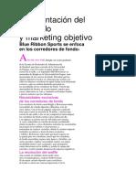 lectura complementaria Segmentación del mercado