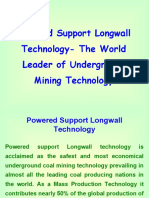 Salvaging & Installation of Powered Support Longwall Equipment