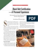 Black Belt Certification Article