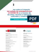 Informe sobre el impacto del estado de emergencia por el COVID-19 en el sector de las artes, museos e industrias culturales y creativas – Perú