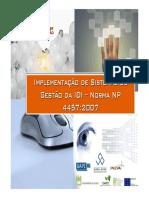 Gestão da IDI - Modelo e Requisitos NP 4457_Global Score