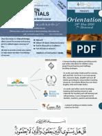 Orientation - Deen Essentials