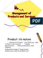 Management of Products and Services