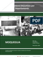 Indicadores educativos Moquegua 2009