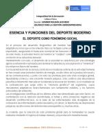 DEPORTE COMO FENOMENO SOCIAL