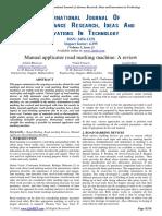 Manual Applicator Road Marking Machine