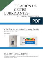 CLASIFICACIÓN DE LOS ACEITES LUBRICANTES Y PROPIEDADES