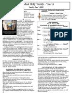 Bulletin - June 7, 2020