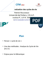 cycle de la vie