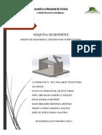 Reporte Maquina de Resortes, Diseño asistodo por computadora CAD