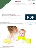 Recetas dulces para bebés de 9 a 12 meses — Eres Mamá