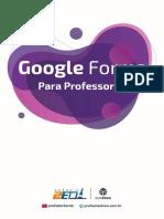 E-book Google Forms Para Professores