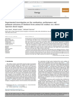 43 Experimental investigation on the combustion, performance and pollutant emissions of biodiesel from animal fat residues on a direct injection diesel engine