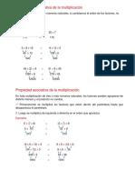 Propiedad  de la multiplicación