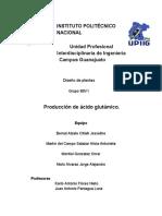 Plan de Negocios para producción de ácido glutámico