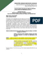 Modelo Solicitud Licencia Con Goce Haber Servidor Público en Emergencia Covid 19 - Autor José María Pacori Cari