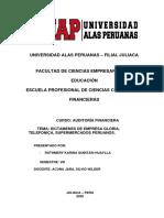 DICTAMENES DE LAS EMPRESAS,GLORIA ,TELEFONICA,SUPERMERCADOS.