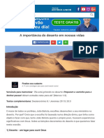 A Importância Do DESERTO Em Nossas Vidas