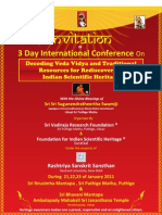 Veda Vidya Conference. Invitation