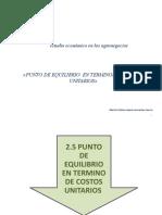 PUNTO DE EQUILIBRIO EN FUNCION DE LA CONTRIBUCION MARGINAL...ppsx
