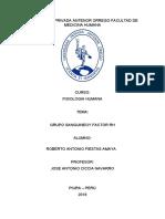 GRUPO SANGUINEO y RH INFORME