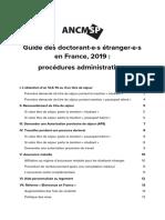 Guide des doctorant·e·s e tranger·e·s - ANCMSP 2019