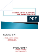 CONTROLING THE ELECTRICAL APPLIANCES USING PC'S