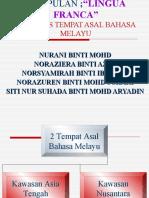 Hipotesis Tempat Asal Bahasa Melayu