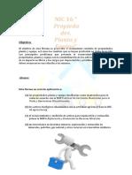 NIC 16, Propiedad Planta y Equipo