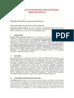 DEMANDA NULIDAD DE COSA JUZGADA FRAUDULENTA