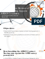 DPEX Analysis of Contact Tracing Apps