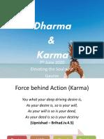 Dharma & Karma by Gaurav Garg 7th June 2020