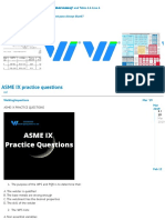 ASME IX practice questions - Exams - Welding Inspecions Community