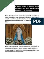 PROFECÍAS E HISTORIA DE NUESTRA SEÑORA DEL BUEN SUCESO
