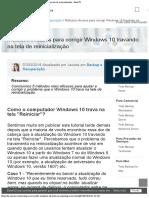 Windows 10 Travando Na Tela de Reinicialização
