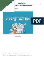 Nursing Care Plan (NCP)_ Ultimate Guide and Database - Nurseslabs