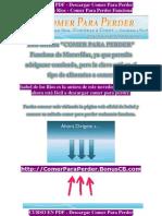 CURSO en PDF - Descargar Comer Para Perder - Isabel de Los Rios - Comer Para Perder Funciona